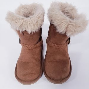 CHILDRENS PLACE Faux Fur Toddler Brown Boots